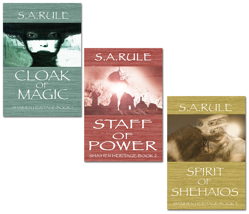 First Shehaios Trilogy Covers by S.A. Rule